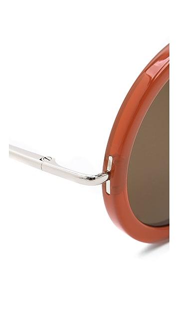 The Row Round Glam Sunglasses