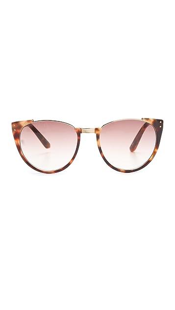 Linda Farrow Luxe Half Moon Sunglasses