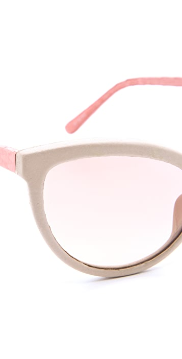 Linda Farrow Luxe Honey Cat Eye Sunglasses