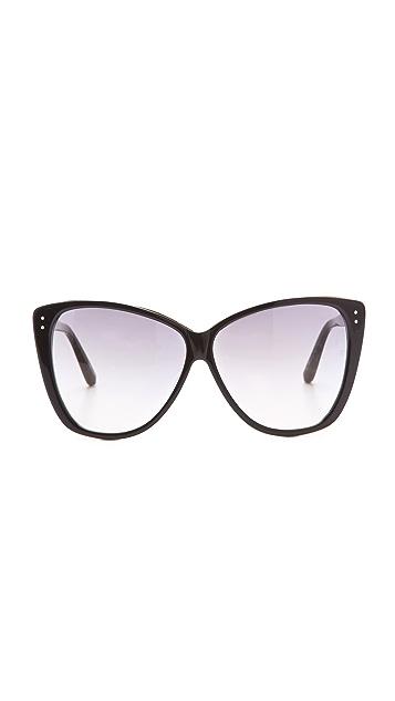Linda Farrow Luxe Square Cat Eye Sunglasses