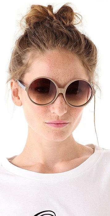 Linda Farrow Luxe Oversized Jackie O Sunglasses