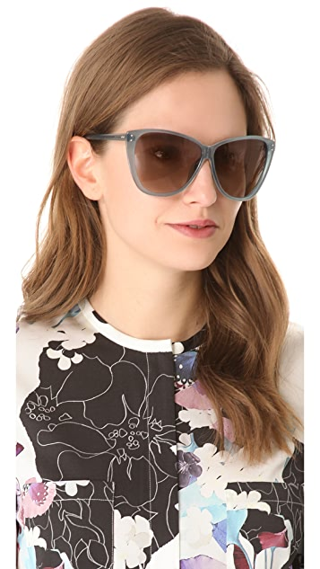 Linda Farrow Luxe Oversized Cat Eye Sunglasses