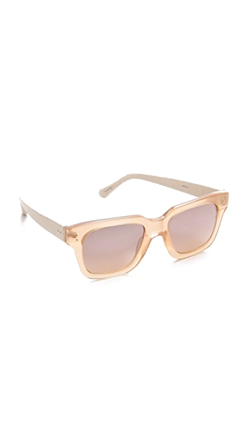 Linda Farrow Luxe Snakeskin Thick Rimmed Sunglasses