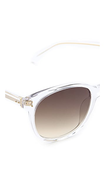 Linda Farrow Luxe Clear Sunglasses