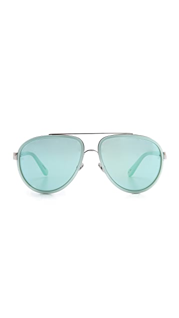 Linda Farrow Luxe Aviator Sunglasses