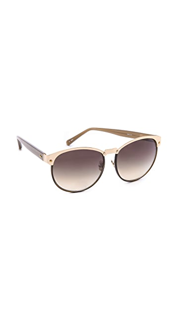 Linda Farrow Luxe Windsor Rim Sunglasses