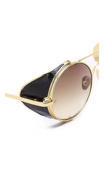 Linda Farrow Luxe Snake Inlay Sunglasses