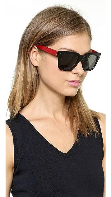 Linda Farrow Luxe Snakeskin Two Tone Sunglasses