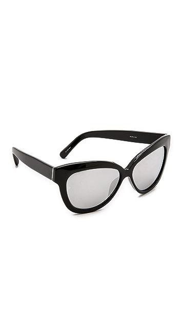 137445c224 Linda Farrow Luxe Thick Rim Sunglasses
