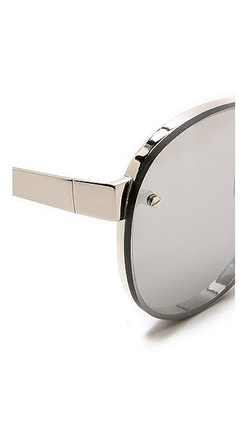 Linda Farrow Luxe Round Sunglasses