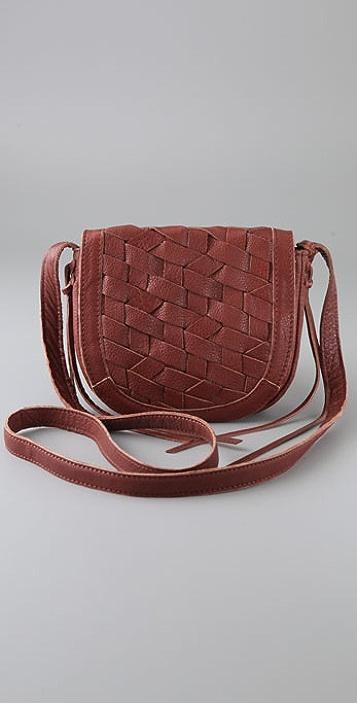 Linea Pelle Perry Woven Mini Cross Body Bag