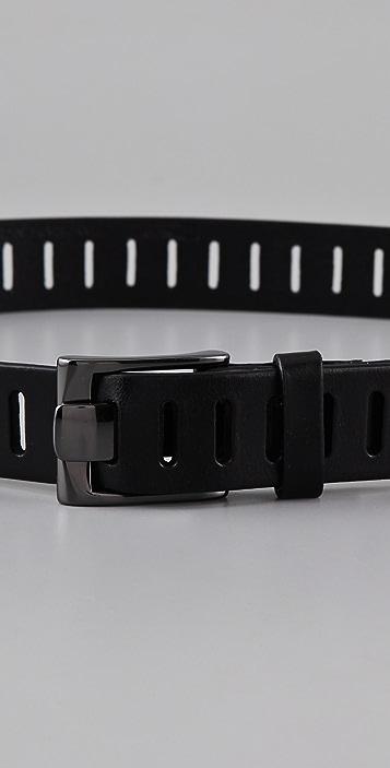 Linea Pelle Skinny Perforated Hip Belt