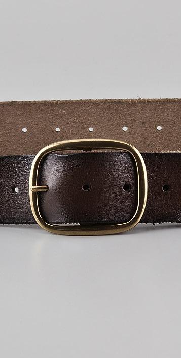 Linea Pelle Vintage Perforated Holes Belt