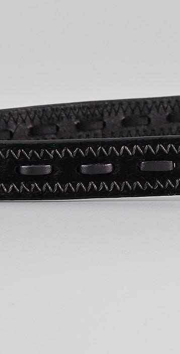 Linea Pelle Lacing Haircalf Belt