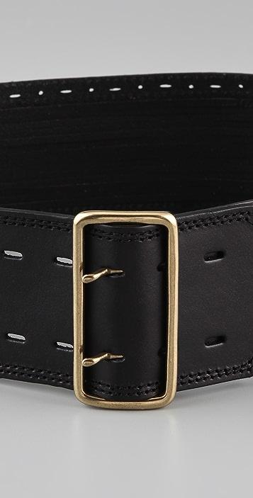 Linea Pelle Sliced & Perforated Waist Belt
