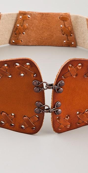 Linea Pelle Vintage Laced Belt