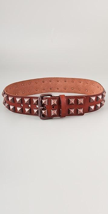 Linea Pelle Vintage Pyramid Studs Hip Belt