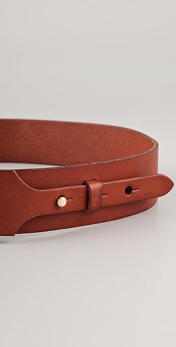 Linea Pelle Buckle & Stud Hip Belt