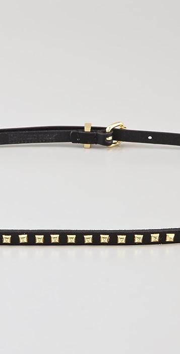 Linea Pelle Ricky Skinny Pyramid Studded Belt