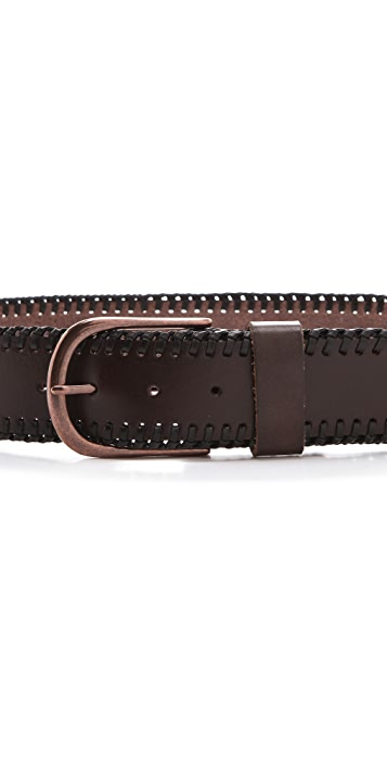 Linea Pelle Jessie Vintage Laced Edge Hip Belt