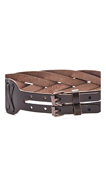 Linea Pelle Daisy Vintage Braided Belt