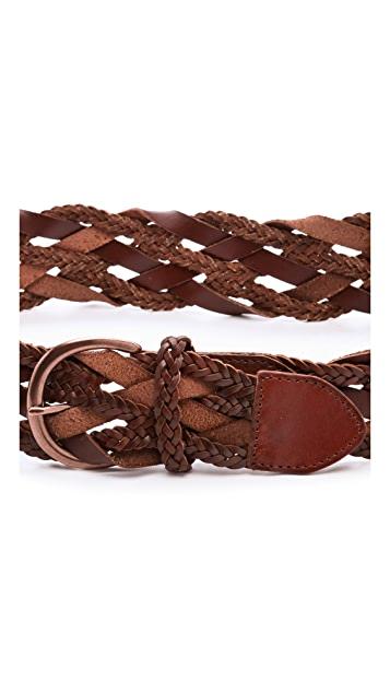 Linea Pelle Daisy Vintage Braided Hip Belt