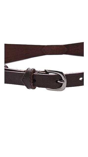 Linea Pelle Avery Snake Belt
