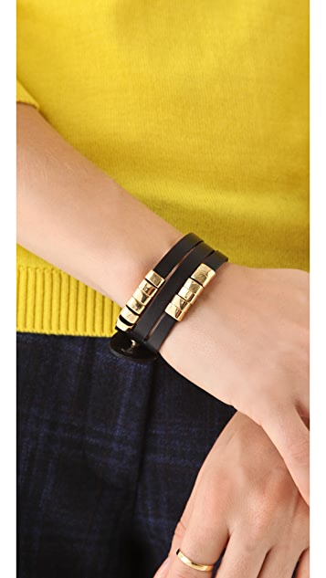 Linea Pelle Sliced Cuff with Sliders