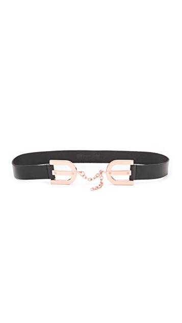 Linea Pelle Avery Horseshoe Buckle Waist Belt