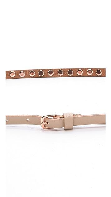 Linea Pelle Ricky Studded Skinny Belt