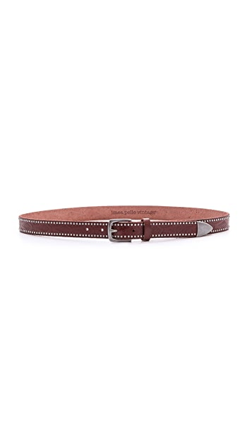 Linea Pelle Embossed Studded Belt