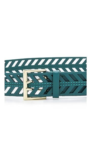 Linea Pelle Chevron Perforated Belt