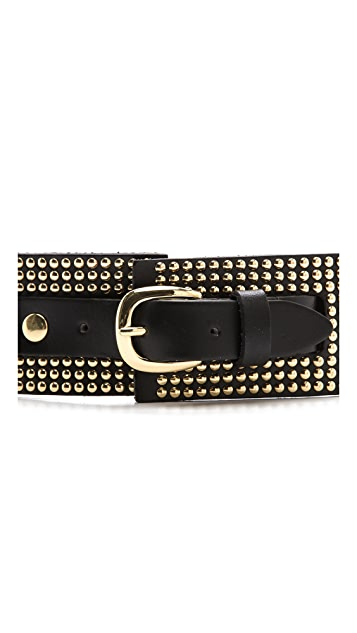 Linea Pelle Nailhead Studded Belt
