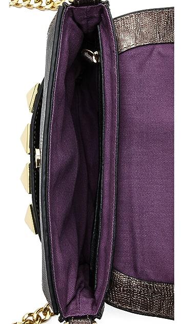 Linea Pelle Grayson Lizard Bar Bag