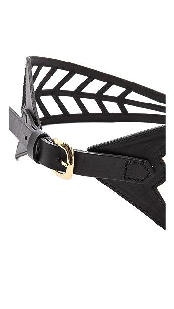 Linea Pelle Chevron Lattice Waist Belt