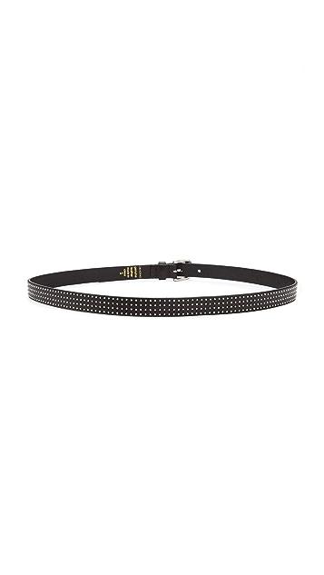 Linea Pelle Skinny Hip Studded Roller Belt