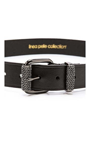 Linea Pelle Chain Wrapped Roller & Keeper Belt