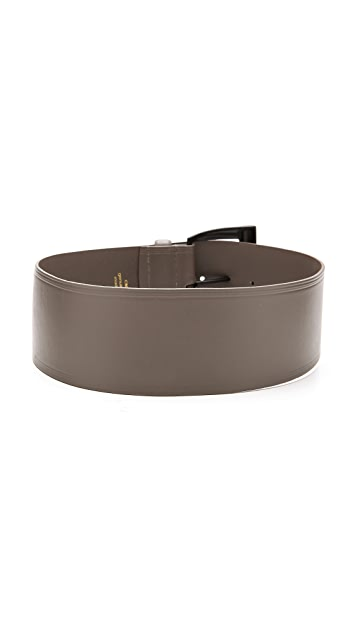 Linea Pelle Wide Waist Shaped Buckle Belt