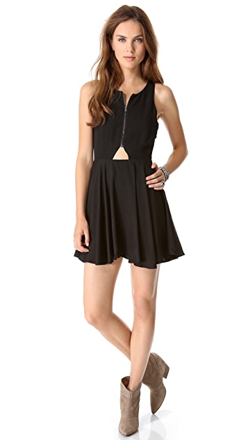 Line & Dot Triangle Cutout Dress