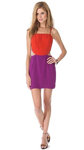 Line & Dot Cutout Dress