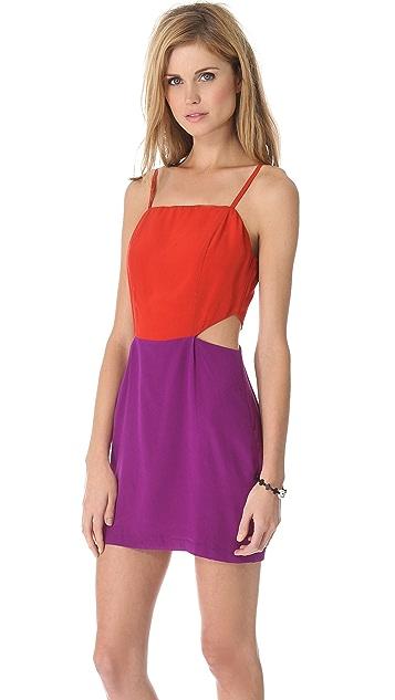 Line & Dot Cutout Dress