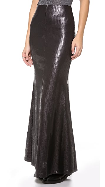 Line & Dot Matte Sequin Mermaid Skirt