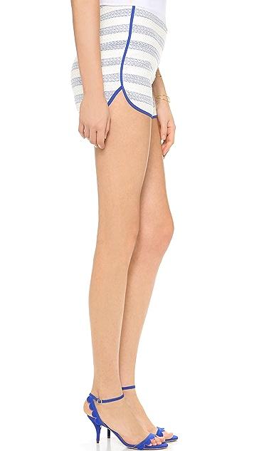 Line & Dot Contrast Binding Shorts