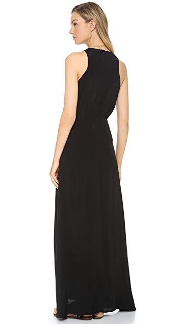 Line & Dot High Neck Maxi Dress