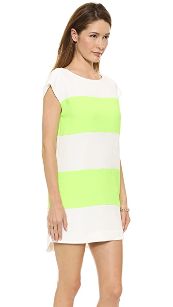 Line & Dot V Back Shift Dress