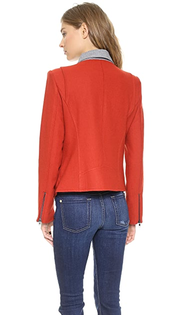 Line & Dot Perry Contrast Moto Jacket