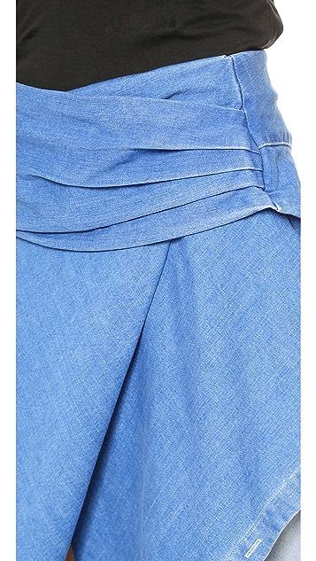 Line II Dion Lee Denim Wrap Skirt