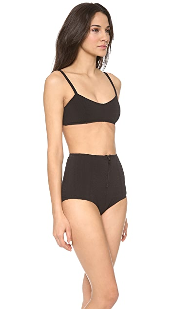 Lisa Marie Fernandez Genevieve Zip High Waist Bikini Set