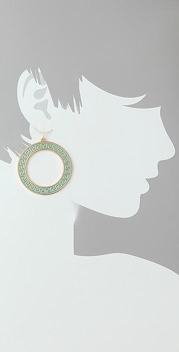 Lisa Stewart Jewelry Modern Myth Gold & Enamel Earrings