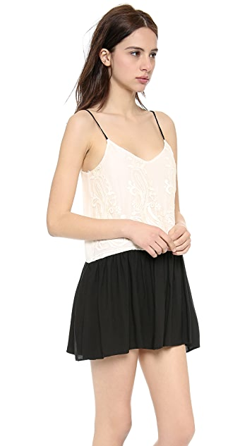 LIV A Line Peplum Dress